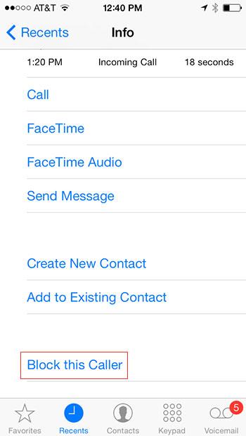 Block this caller