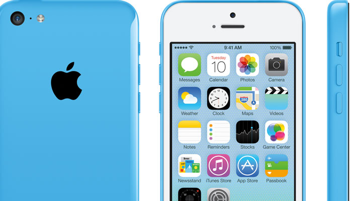 What the iPhone 5c looks like with a white front panel