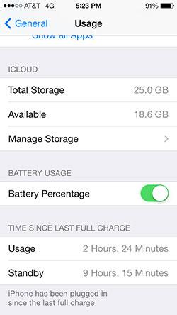 Monitor battery life