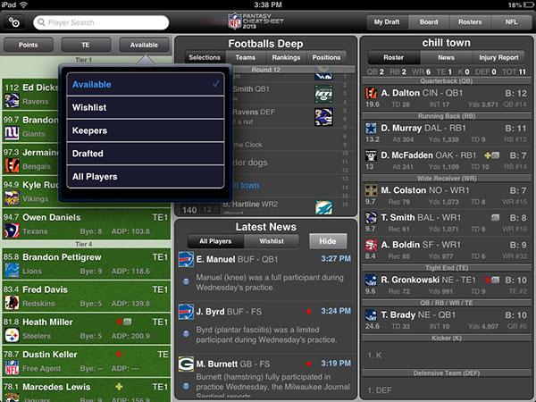 NFL Cheat Sheet
