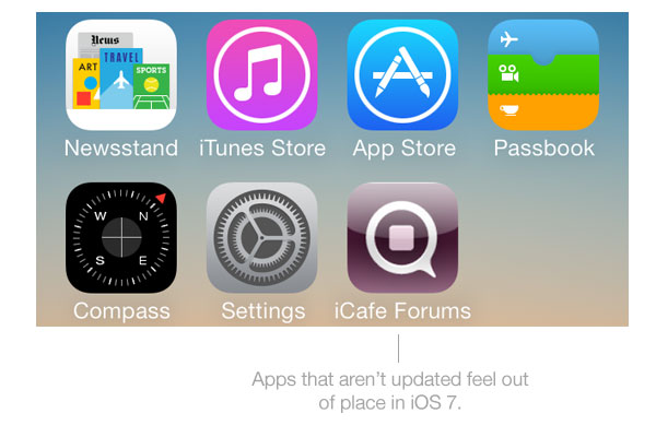 non-iOS 7 apps