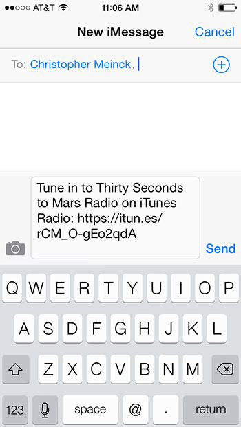Share iTunes Radio Station