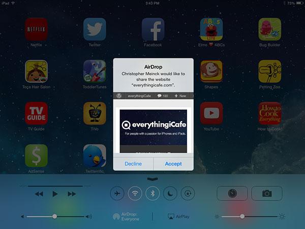 Shared page iPad mini