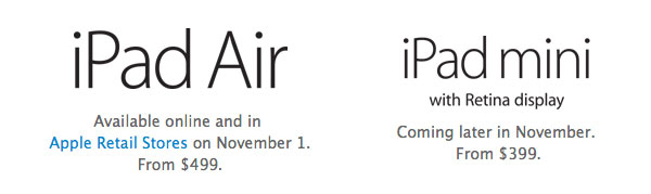 iPad air availability