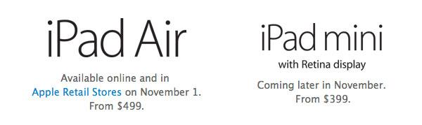 iPad air availability