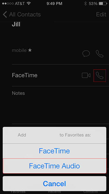 FaceTime audio app