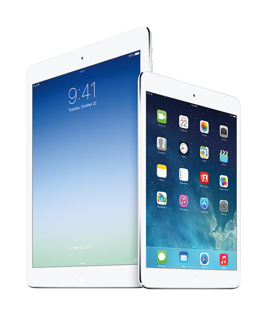 iPad Air or iPad mini retina