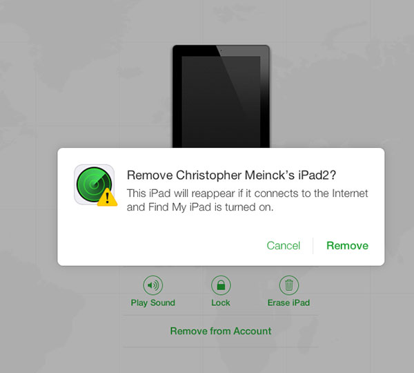 Remove from Find My iPhone