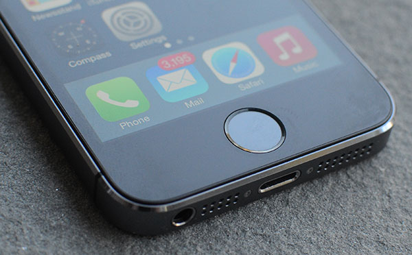 Setup Touch ID on iPhone 5s