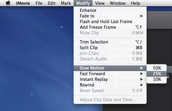 Add slow motion effects