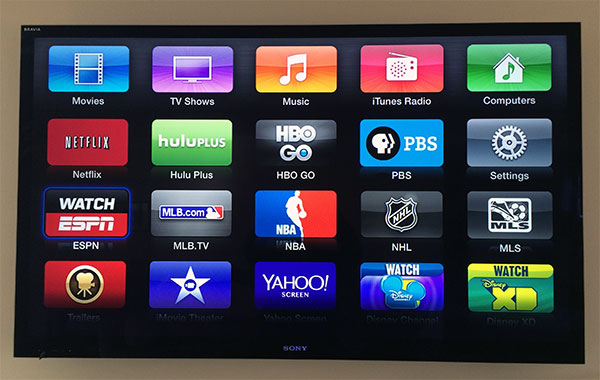Apple TV Yahoo PBS
