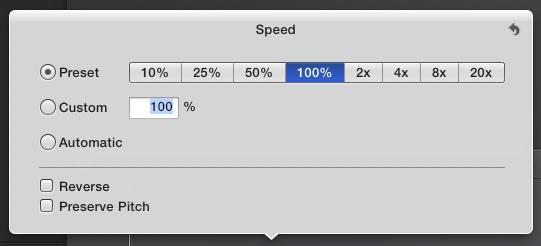 Change speed