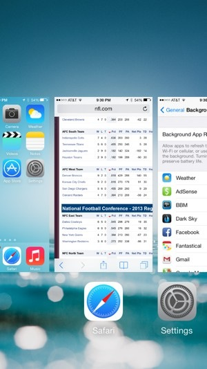 Force quit apps in iOS 7