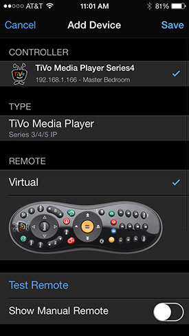 Roomie TiVo remote