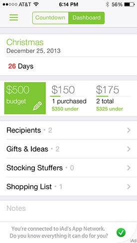 best gift list apps for iphone to plan your christmas event shopping