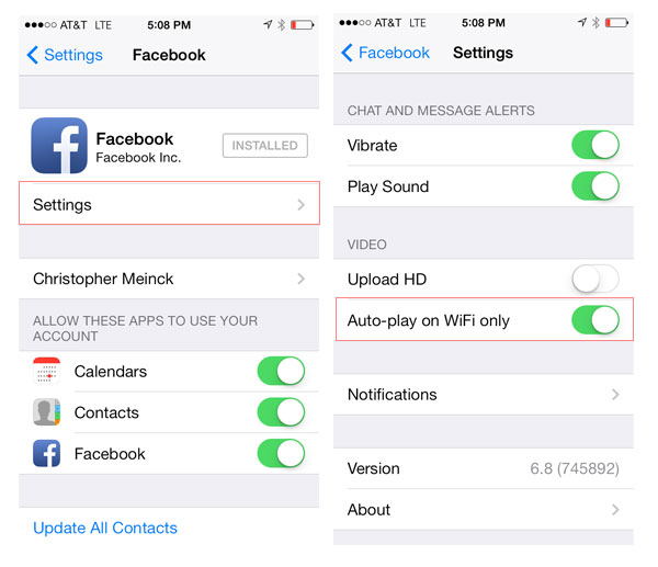 Disable autoplay videos Facebook