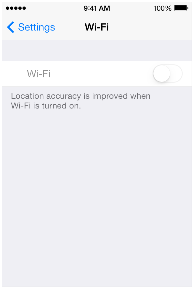 Grayed out WiFi