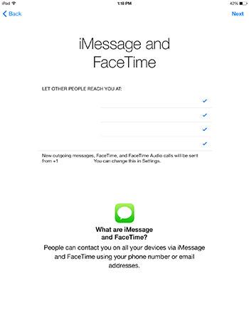iMessage Facetime
