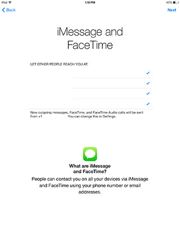iMessage Facetime