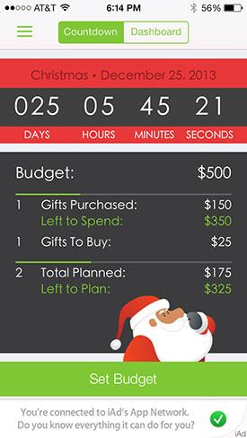 Santas Helper budget