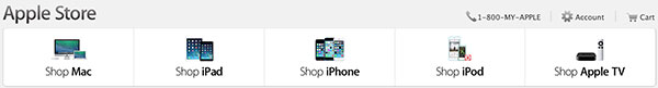 Apple TV in store