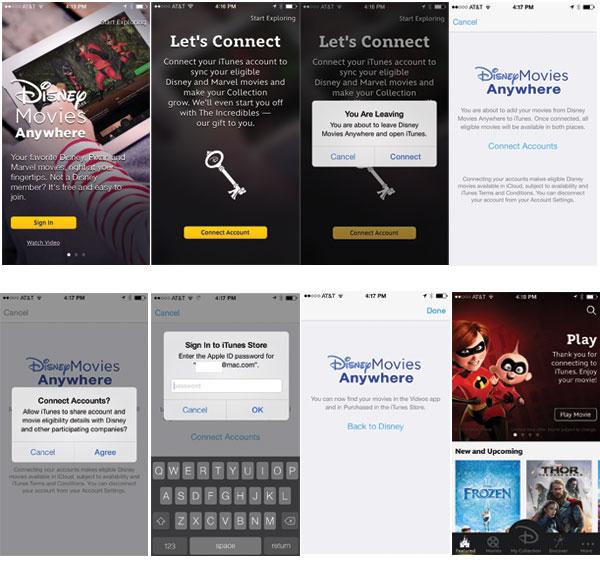 Connect Disney iTunes