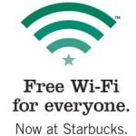 Starbucks free WiFi Google