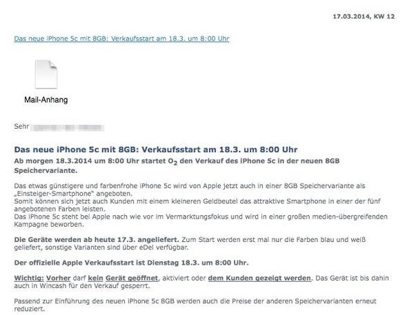 O2 iPhone 5c