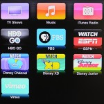 Apple TV homescreen