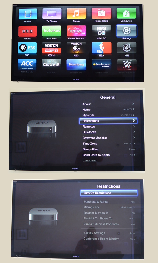 Apple TV parental controls