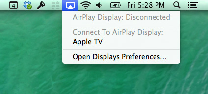 Connect to AirPlay display