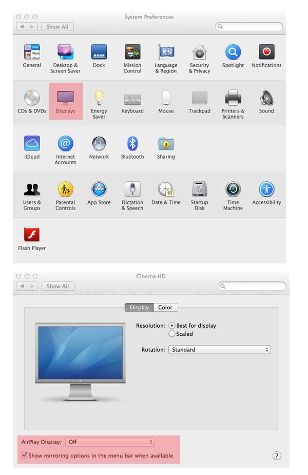 Enable AirPlay menu