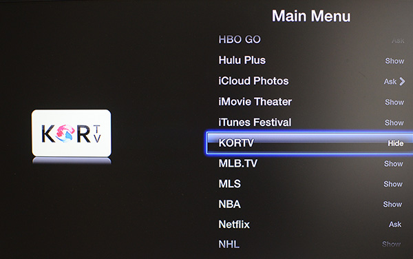 Hide apps on Apple TV
