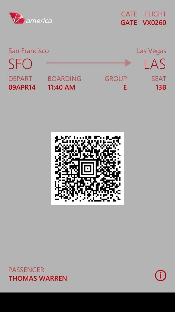 Passbook Windows Phone