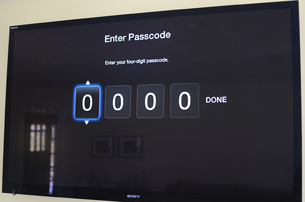 Passcode required