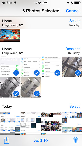 Selected photos for deletion