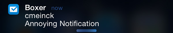 Dismiss notifications on iOS 7