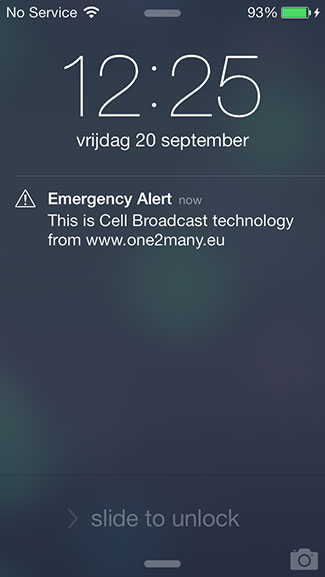 Emergency alert iPhone