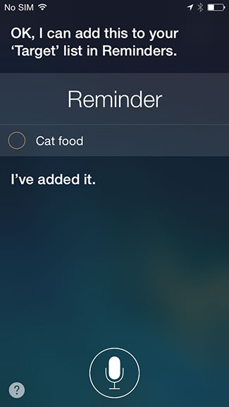 Siri add to reminders list