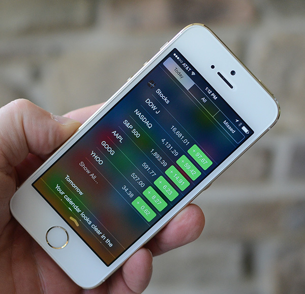 Remove stocks iPhone Notification Center