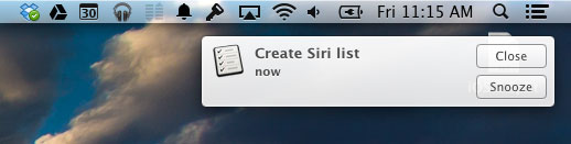 Siri remind me Mac
