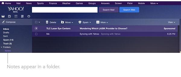 Yahoo Notes