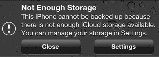Not enough storage iCloud