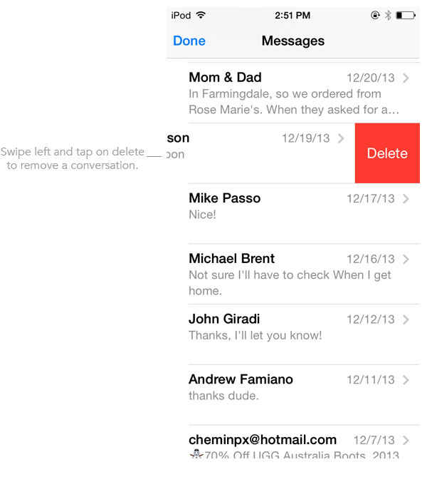 Delete conversation messages iOS 7