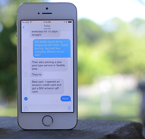 How to delete multiple or individual text messages on iOS