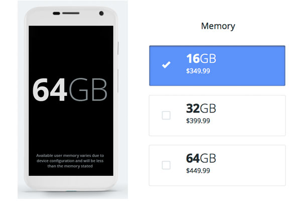 Moto X storage