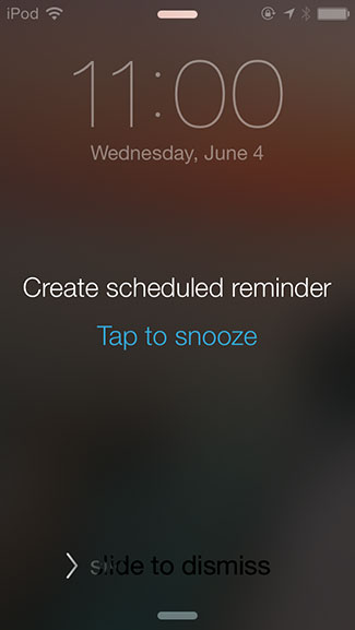 Scheduled Reminder Alarm