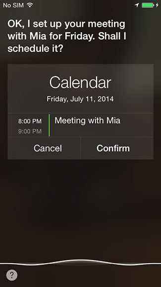 Add event Siri