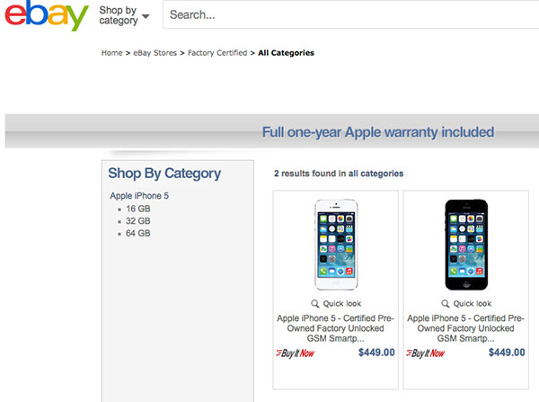 Apple refurbished store eBay