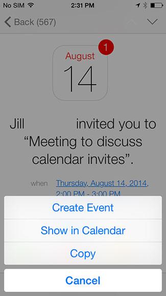 Create, show in calendar